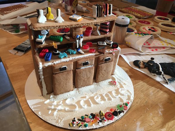 Gingerbread lab bench